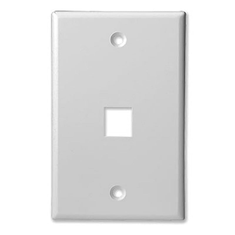 SCP 301-WT 1 PORT - MID SIZE - KEYSTONE WALL PLATE - SINGLE GANG, UL, WHITE