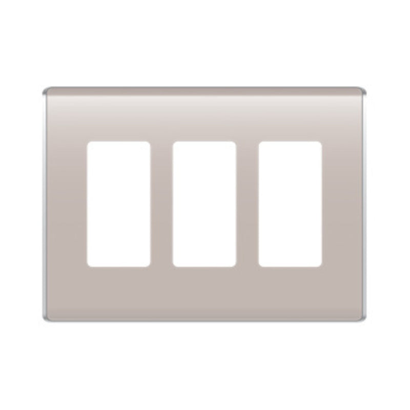 OnQ WP5003TP Studio Triple Gang Wallplate - Taupe