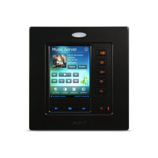 "RTI RK3-V GB 3.5"" In-Wall Touchpanel Keypad - Gloss Black"