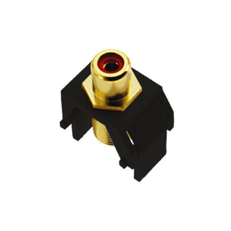 OnQ WP3462BK Keystone Red RCA to F-Connector - Black