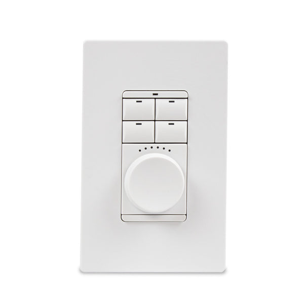 Savant WPK-SWA105-00 Echo Wireless Dial Keypad - Adaptive Dimmer (Snow White)