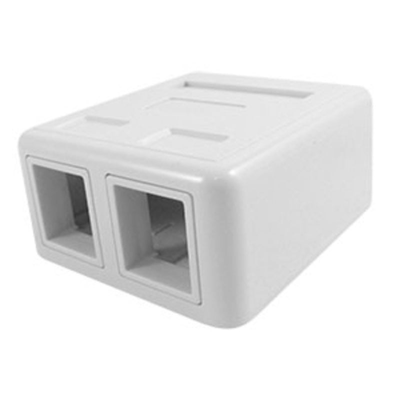 SCP 213-WT 2Port White Surface Mount Box