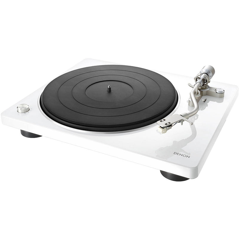Denon DP-400WT Hi-Fi Turntable with Speed Auto Sensor - White