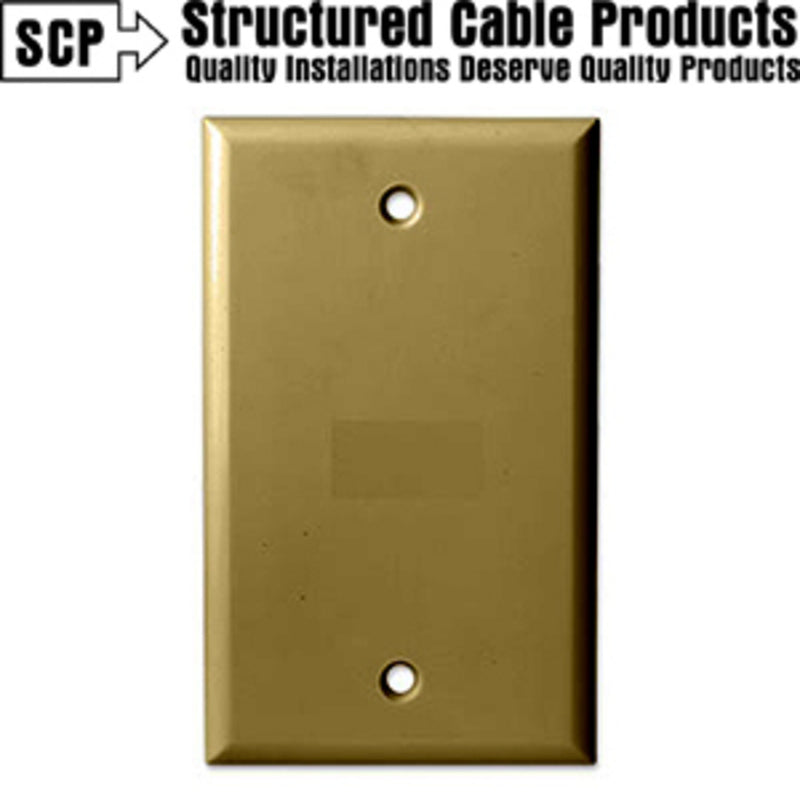 SCP 242-BR 1Gang Brown Blank Wall Plate
