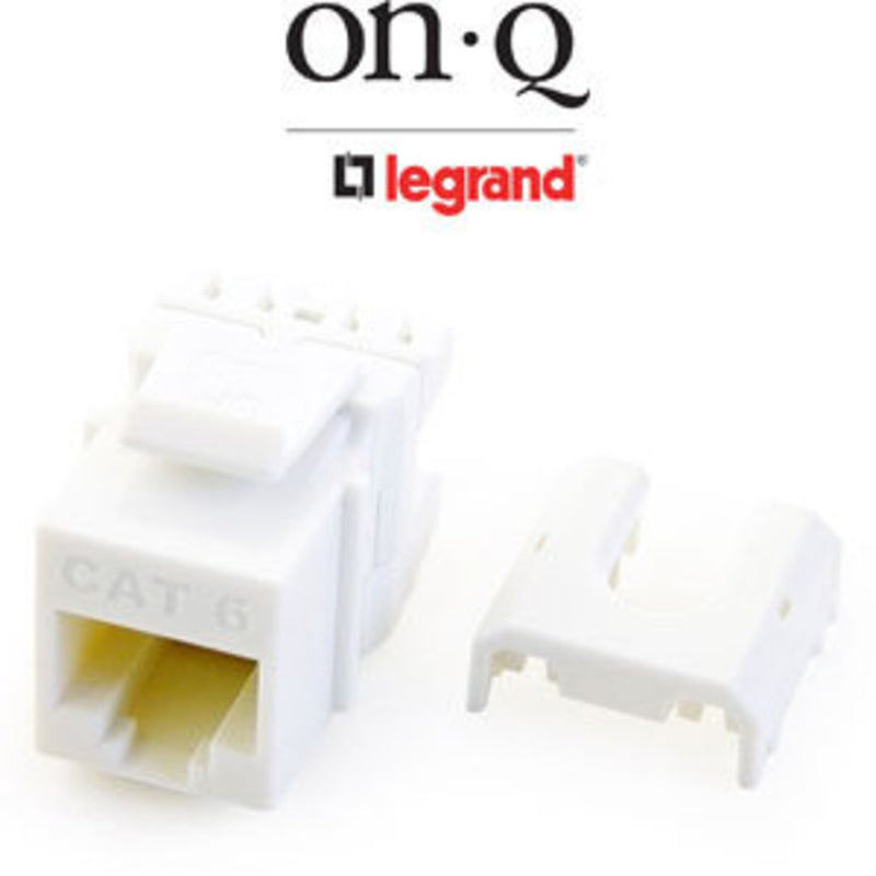 OnQ WP3476-WH RJ45 Cat6 Quick Connect Keystone - White