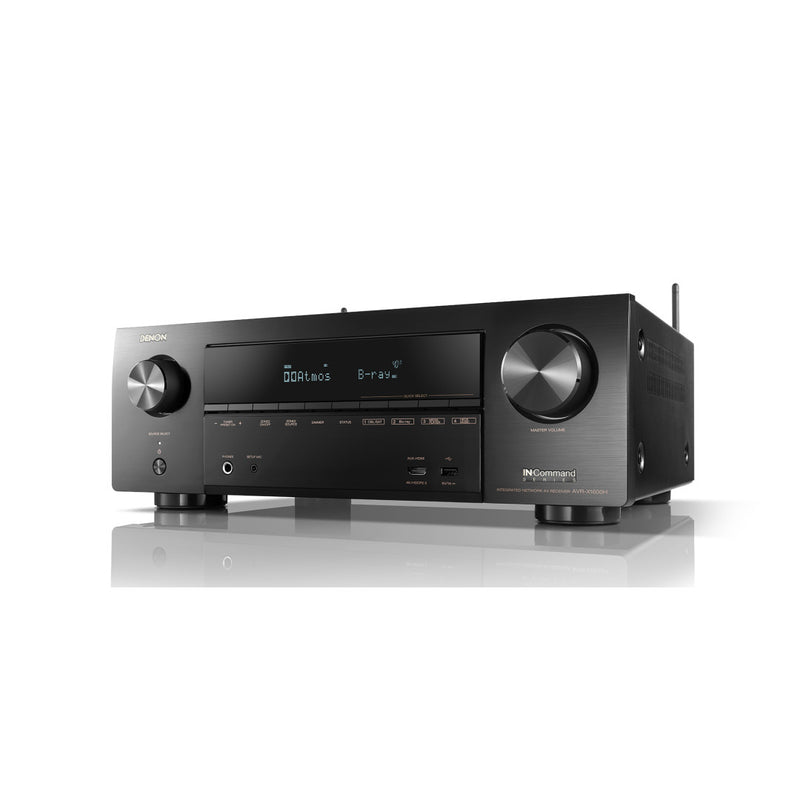 Denon AVR-X1600H 80W 7.2Ch Network AV Receiver w/3D Audio and HEOS Built-in