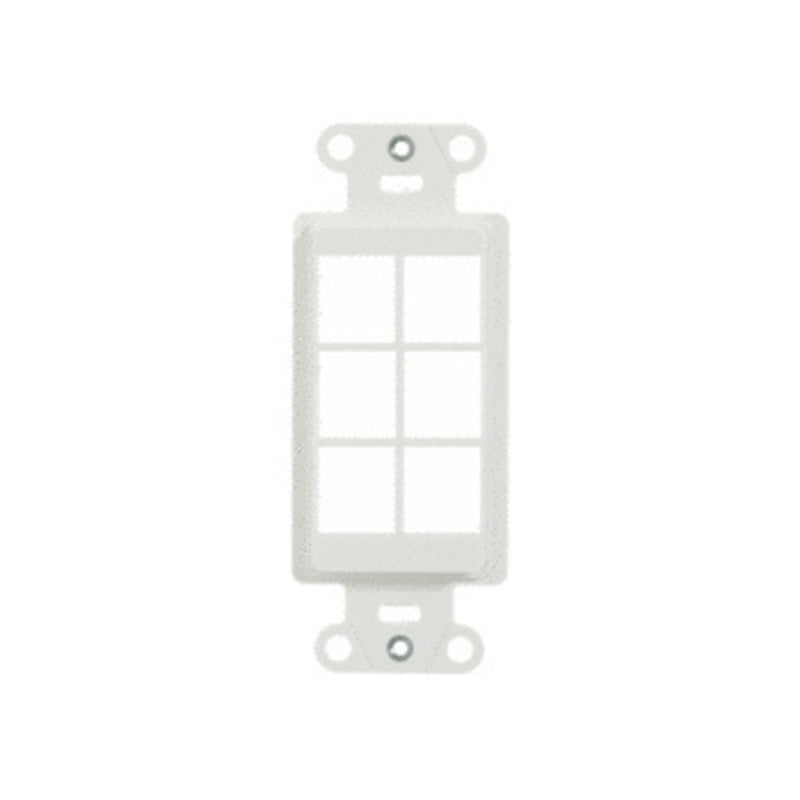 OnQ WP3416WH 6-Port Decorator Outlet Strap - White