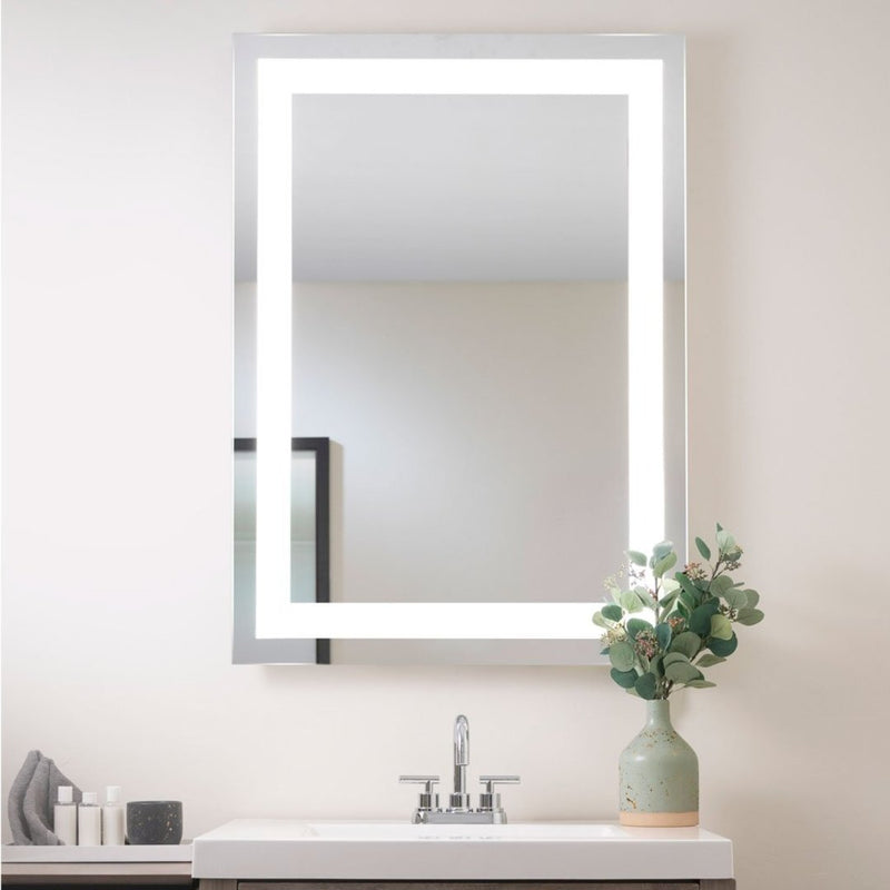 "Seura S-S-6042-S-AL-BLED-D Lighted Mirror Allegro Design 60"" W X 42"" H"