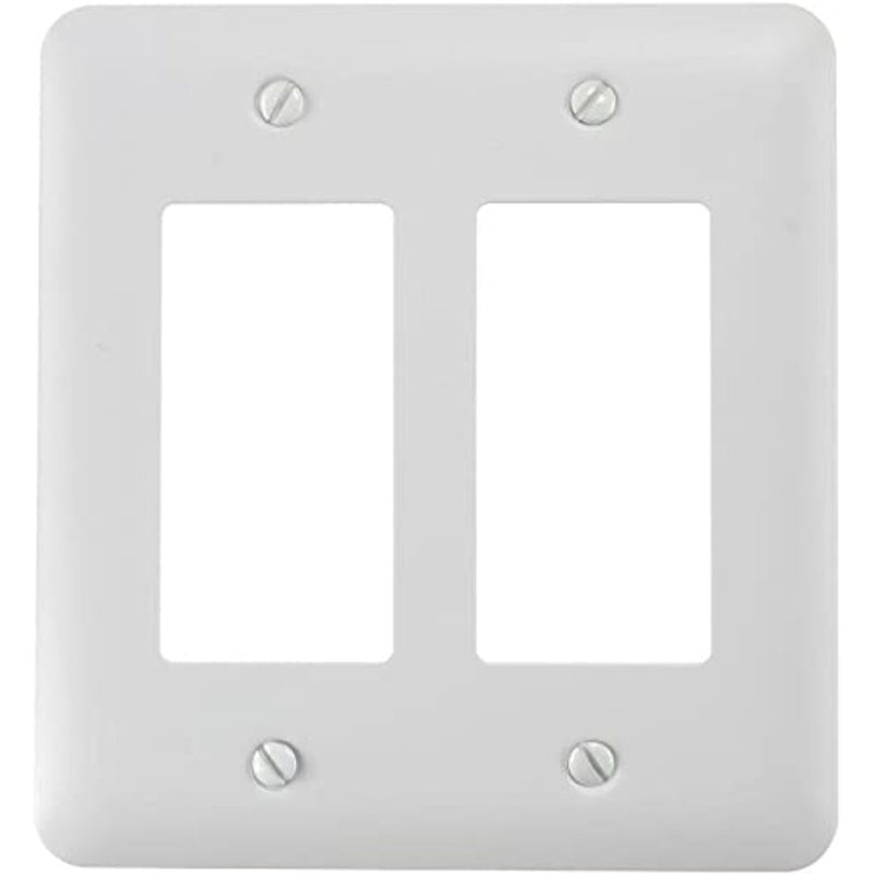 OnQ F1207WH 2-Gang Decorator Wallplate - White