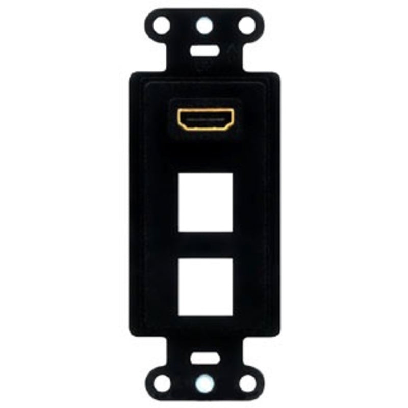 OnQ WP1011BK Pre-Configured HDMI 2-Port Strap - Black