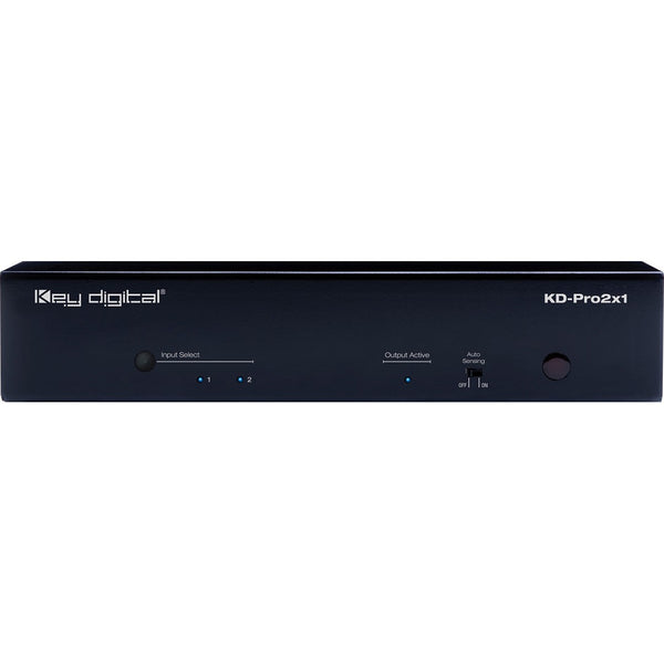 Key Digital KD-Pro2x1 2x1 4K/18G HDMI Switcher, Audio De-embedding of Analog L/R Balanced/Unbalanced & Digital Coaxial Audio