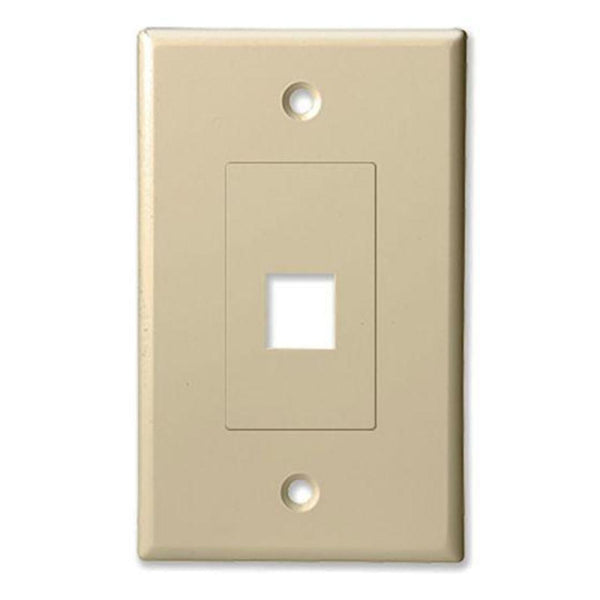 ProConnect PC201DC Single Gang 1 Port Keystone Decorator Style Wall Plate (FINAL SALE)