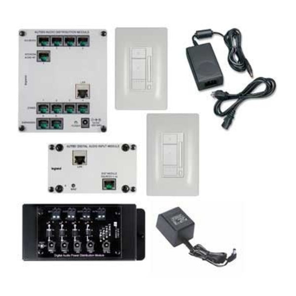 OnQ AU7152WH Digital Audio Two-Room, Single-Source Kit - White