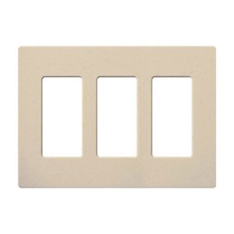 Lutron SC-3-ST Claro 3-Gang Decorator Screwless Wall Plate - Stone