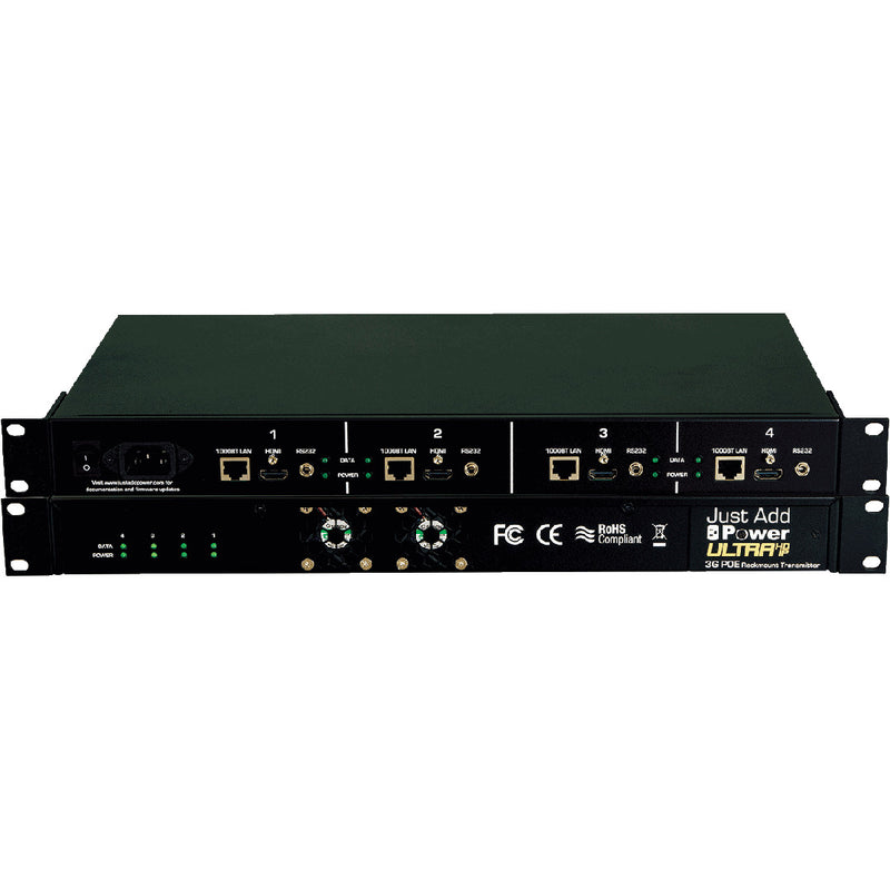 Just Add Power VBS-HDIP-747PoE 4-IN-1 3G PoE Rackmount Transmitter