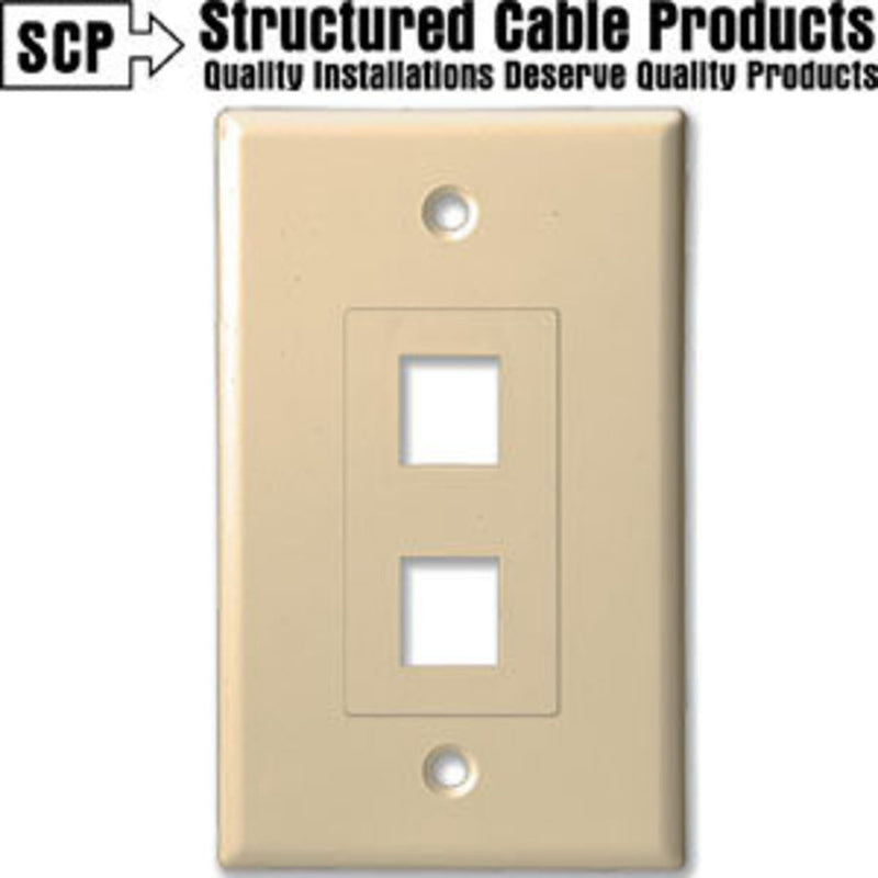 SCP 202D-IV 2Port Ivory Insert & Wall Plate
