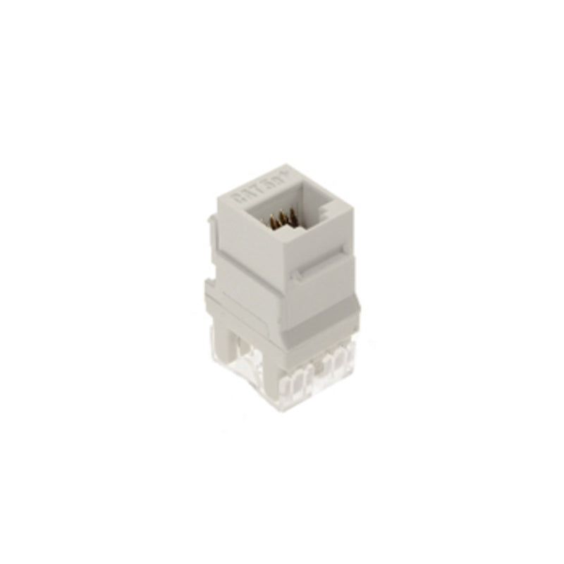 OnQ WP3450WH50 Category 5e RJ45 Keystone Connector - White (Pack of 50)