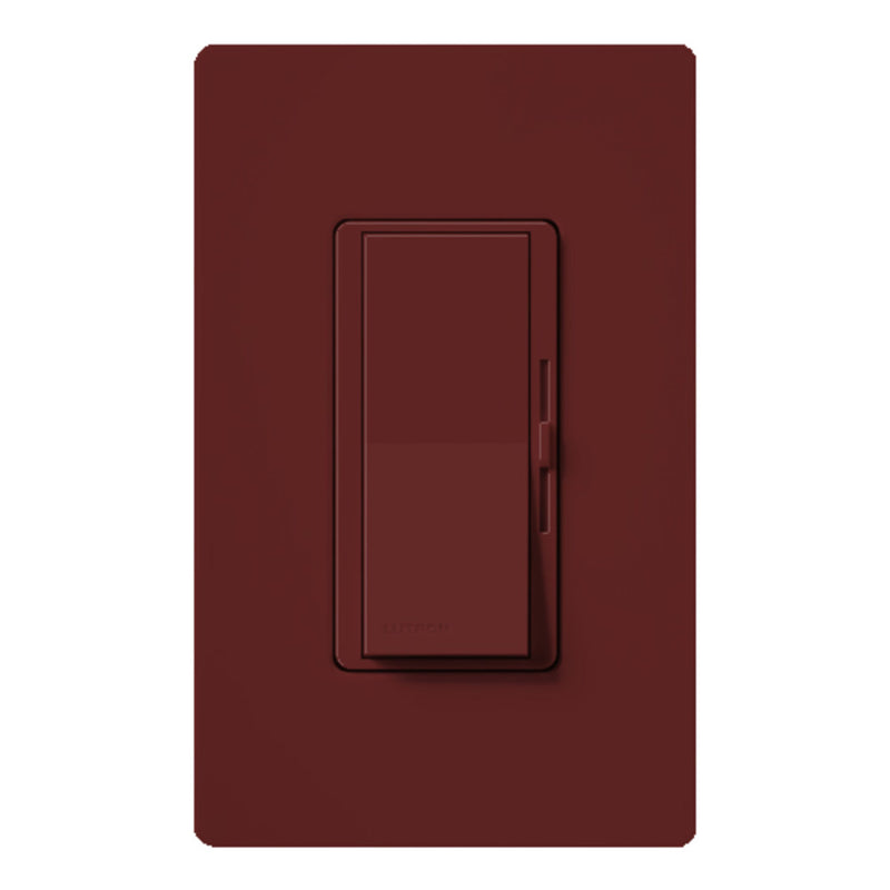 Lutron DVSCLV10PMR Diva Magnetic Low Voltage Preset Dimmer - Merlot