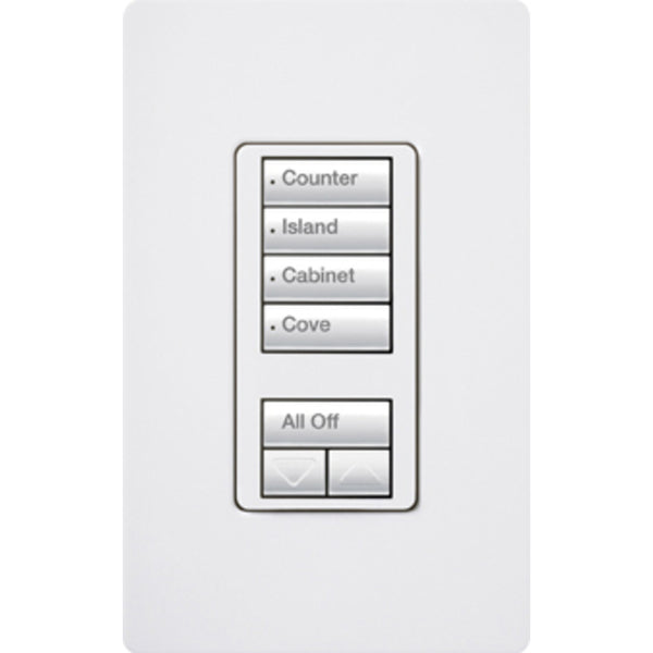 Lutron  RRD-HN4S-SI RadioRA 2 4-Scene with Raise/Lower Keypad Neutral Wire Dimmer