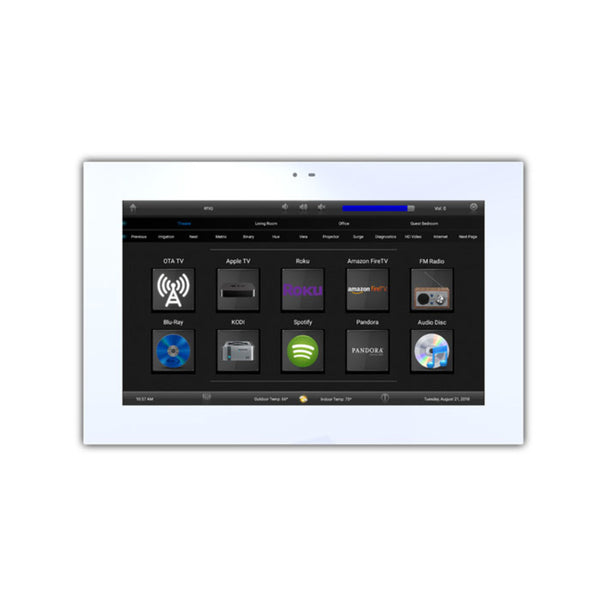 "RTI KA8-WHITE White 8"" Tabletop/Wall Touchpanel"
