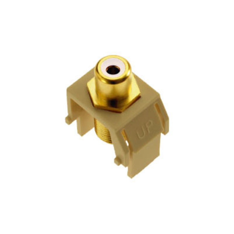 OnQ WP3461IV Keystone RCA to F-Connector - Ivory