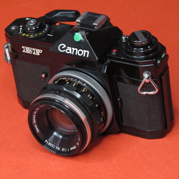 Canon EF 35mm camera with 50mm f1.8 FL Lens