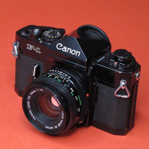 Canon F-1 35mm camera with 50mm f1.8 FD Lens