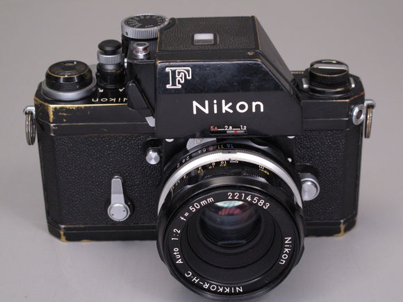 Black Nikon F Camera Body with NIKKOR-H.C 50mm f2 lens