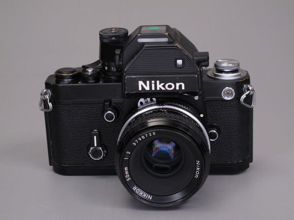 Black Nikon F2 35mm Camera with NIKKOR 50mm f2 Lens
