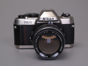 Nikon FM10 Camera with 28mm Wide-Angle lens