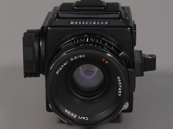 HASSELBLAD 503CX BLACK WITH ZEISS 80/2.8 CF T* + A12 back