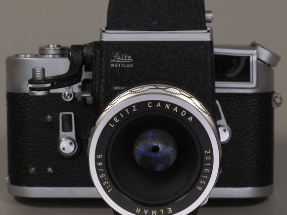 Leica M4 for parts or repair with Visoflex + ELMAR 65/3.5 Lens