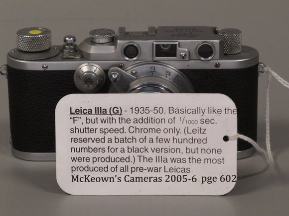 Vintage and Collectible Leica IIIa with Elmar 1:3,5 F=50mm Lens