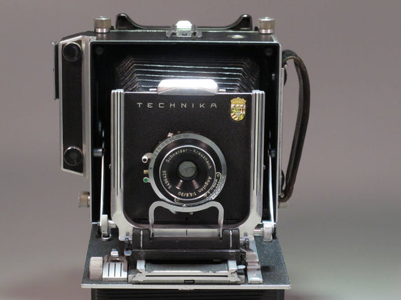 LINHOF TECHNIKA 4X5 Field Camera with Angulon 90mm f6.8 Lens