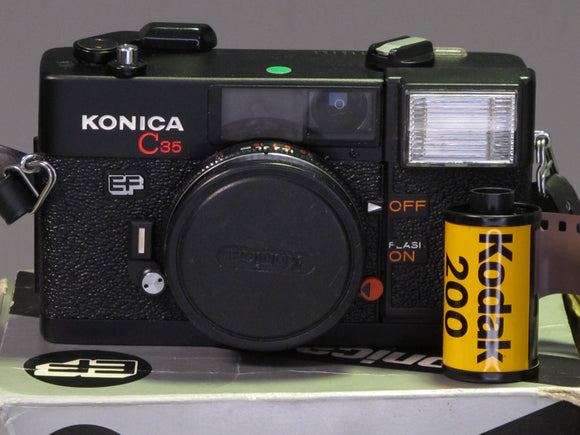 Konica C35 EF with HEXANON F2.8 Point & Shoot Film Camera Boxed