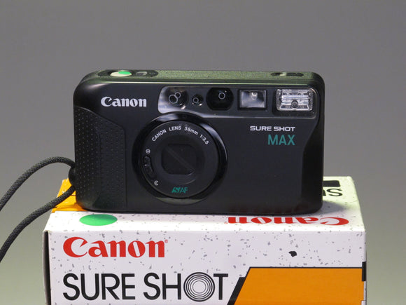 Canon SURE SHOT MAX Point & Shoot Film Camera Boxed