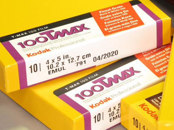 Kodak Professional 100 TMAX 4X5 in. Negative Film