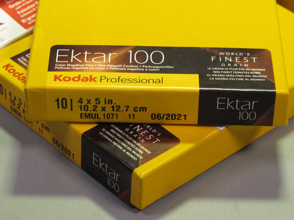 Kodak Professional Ektar 100 4X5 in. Color Negative Film