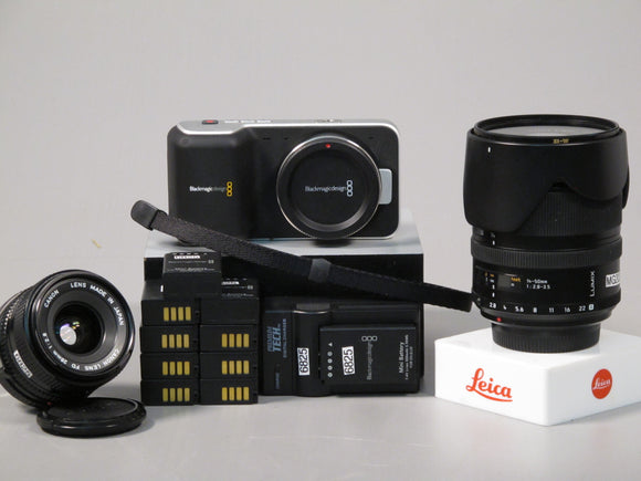 Blackmagic Pocket Cinema Camera with Leica D Vario-Elmarit 14-50mm lens/Rental
