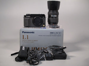 Panasonic LUMIX DMC-L1K Digital Camera with Olympus 40-150mm Lens