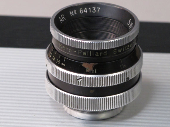 Kern-Paillard 25mm AR SWITAR 1.4 lens