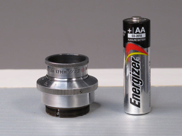 WOLLENSAK 17MM f2.7 RAPTAR Cine C Mount Lens