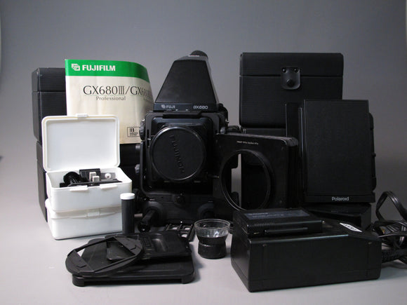FUJI GX680 Medium Format Camera Kit with 135, 115, 80, and 50mm lenses and accessories