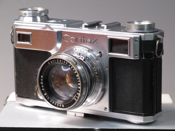 Contax 2A Rangefinder with Carl Zeiss Sonnar 5cm f2 collapsible Lens