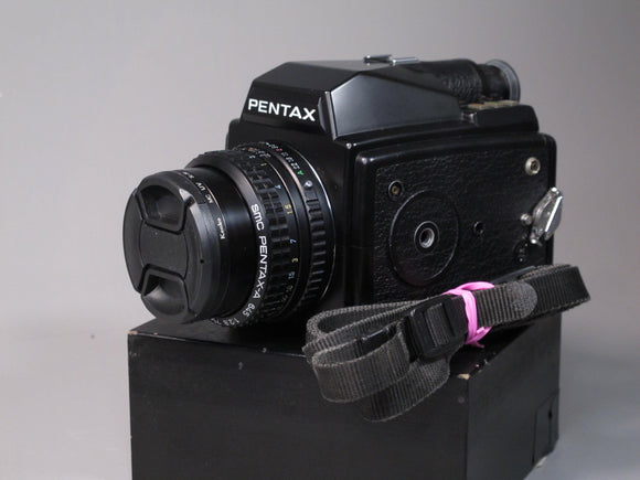 Pentax 645 Medium Format Camera with 75mm f2.8 Lens and Powerwinder