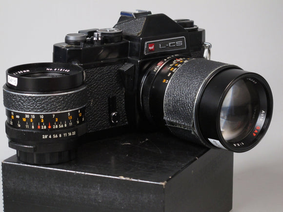 GAF L-CS 35mm camera with 135mm f.28 and 35mm f2.8 lenses