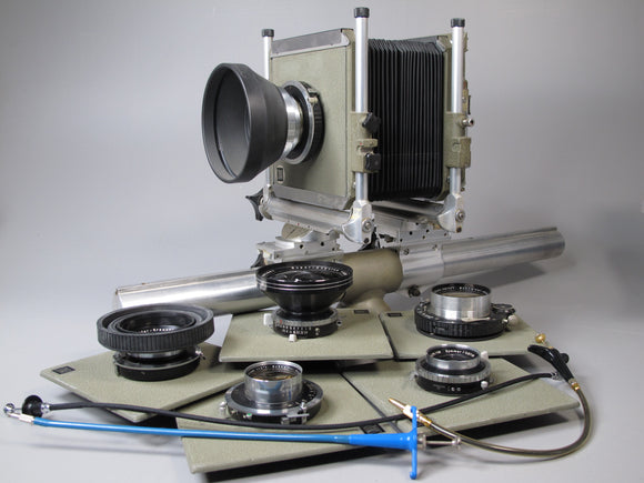 Sinar Monorail System C koch Large Format Camera with 6 lenses