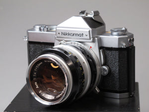 NIKKORMAT FT 35mm Camera with 50mm NIKKOR-S Auto f1.4 Lens