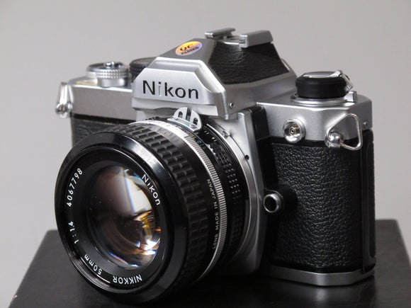 Nikon FM 35mm camera with NIKKOR 50mm f1.4 lens