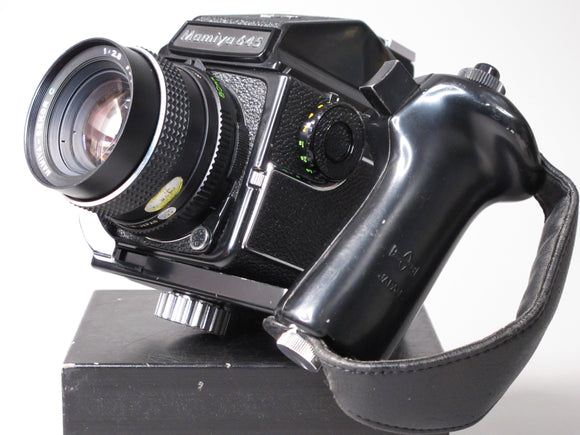 Mamiya 645 1000s Medium Format Camera with SEKOR-C 80mm f2.8 Lens and Power Grip